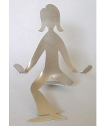 Girl Ladies Business Card Holder Woman Stainles... - $20.00