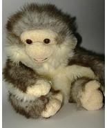 Animal Alley Monkey Puppet Tan Gray Brown Furry... - $22.88