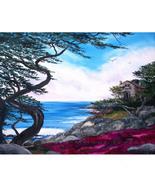 Carmel Monterey California Seascape Ocean Cypre... - $599.00