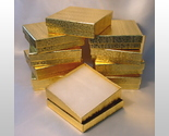 Buy gift boxes wholesale - 10 Gold Leaf Metallic Premium Gift Boxes Wholesale Lot