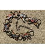 Butterfly Belt Rhinestones Colorful Butterflies - $14.00