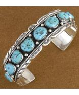 Native American Sleeping Beauty Turquoise Sterl... - $477.77