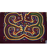 Kuna Mola Hand stitched Applique Folk Art panel... - $59.39