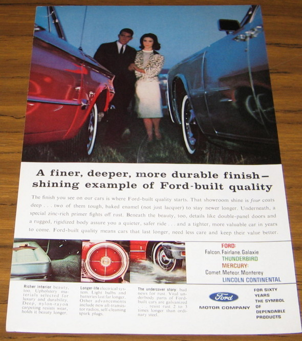 1963 AD~FORD BUILT QUALITY~DURABLE PAINT FINISH