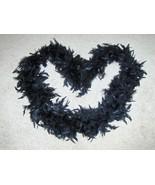Black Boa Feathers Wrap Neck Warmer - $3.97