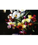 Orchid Bouquet Silk Hmong Embroidery Needlework... - $593.99