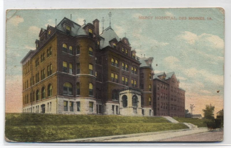 MERCY HOSPITAL~DES MOINES,IOWA~1909