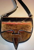 Ecuador One-of-a-Kind Fur/Leather Messenger/Cross body purse -