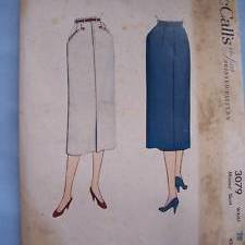 Vintage McCalls 3842: The Kick-Pleat Skirt | zilredloh