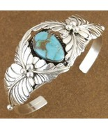 Lone Mountain Turquoise Sterling Silver Old Paw... - $321.77