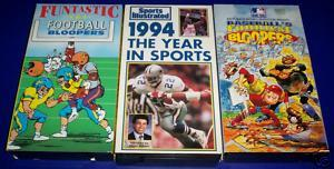 Sports Bloopers and 1994 Year In Sports VHS - 3 Tapes