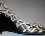 Snake skin (fux) wedge heels. Cut-out/chic - 9 - Bonanzle