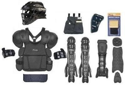 Baseball Umpire Chest Protector Face Mask Leg Guard Set