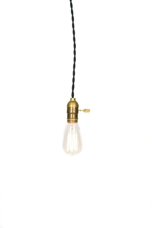 Simply Modern Vintage Farmhouse Pendant Light - Black Wire
