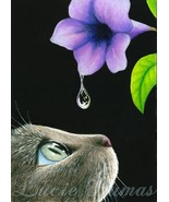 ACEO art print Cat 409 by Lucie Dumas - $4.99