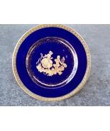 Limoges Castle France Plate Gold Gilding /w Couple - $24.99