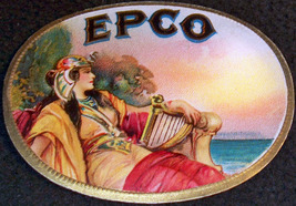 Epco Embossed Cigar Label, 1920's - $2.99