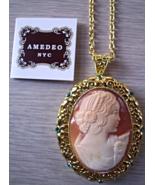 AMEDEO NYC GIACINTO CORNELIAN SHELL AND CRYSTAL... - $25.00