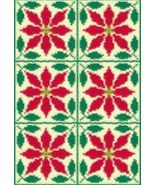 Latch Hook Rug Pattern Chart: Poinsettia Quilt-... - $5.75