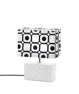 Geometric Black and White Table Lamp - $37.00