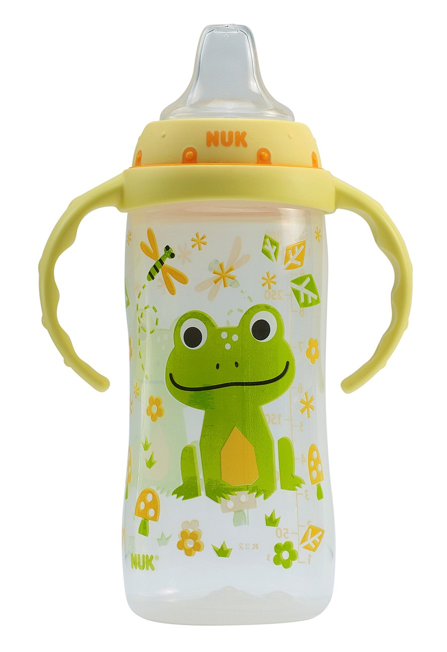 Nuk LEARNER Cup - Two Handle 10 oz Tall Sippy Cup With Clear Silicone Spout - Sippy Cups u0026 Mugs