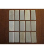 15 Heads 1890 Ivory Behr Bro. Piano Keys Covers... - $39.00