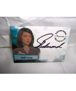 Smallville Nell Lang SIGNED Card A9 Sarah Jane ... - $10.99
