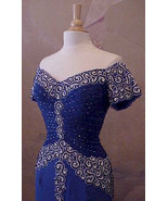 Cordell Couture #3010 / Short Sleeve Gown / Blu... - $517.50