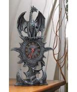 Mantel Clock mythical winged dragon w roman num... - $21.89
