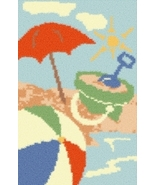 Latch Hook Rug Pattern Chart: AT THE BEACH - EM... - $5.75