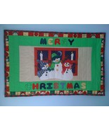 Merry Christmas Holiday Quilted Snowman Penguin... - $39.95