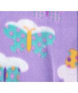 Fleece Fabric Butterflies Clouds Purple Unisex ... - $28.99