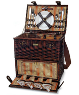 CLASSIQUE CARRIER WILLOW PICNIC BASKET FOR FOUR... - $129.00