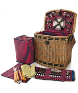 TUSCAN ELITE WILLOW DELUXE PICNIC BASKET WITH B... - $129.00