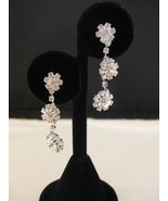 Austrian Crystal Flower Chandalier Earrings New - $16.00