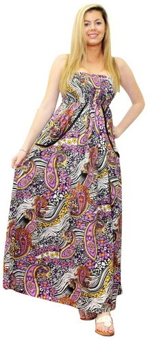Multicolor printed halter tube dress
