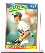 1988 Topps Mark McGwire Mini card #47 - $1.00