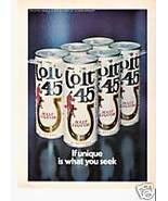 Colt 45 Malt Liquor magazine ad - $4.00
