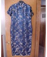 Ladies NWOT Large Size Oriental Dress Navy Blue... - $15.00