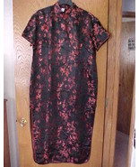 Ladies NWOT Small Size Oriental Dress Red & Black - $15.00