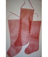 3 Large Vintage Christmas Mesh Christmas Stockings - $12.00