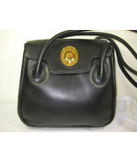 Vintage Christian DIOR Black Leather Shoulder Bag France