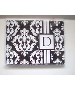Blank Notecards Black and White Monogram Letter D with Envelopes New Set of 8 - $4.95