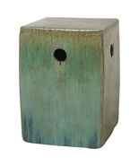 GREEN SQUARE, Ceramic Garden STOOL Side End TAB... - $249.00