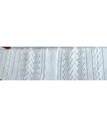 pattern for braided leaf afghan with circle cab... - $5.00