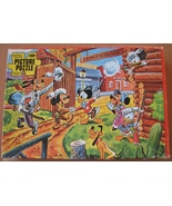 Jigsaw Puzzle 1950s Disney Frontierland Incompl... - $7.93