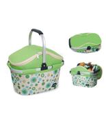 Aluminum framed picnic cooler basket 1004 Green - $38.00