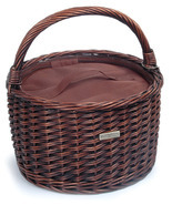 TRADITIONAL CARRIER (ROUND) WILLOW COOLER PICNI... - $42.50