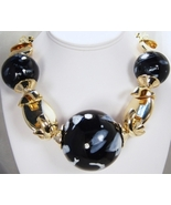 Chunky black and gold necklace set - $30.00