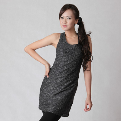Sophistix - Opal Black Sleeveless Glitter Dress : Sizes S M L XL